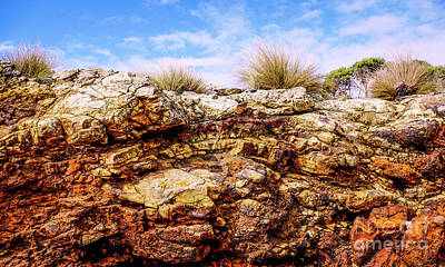 Photograph - Coloured Cliff by Lexa Harpell