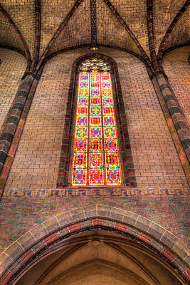 Photograph - Coloured Glass In The Church Of The Jacobins In Toulouse by Semmick Photo