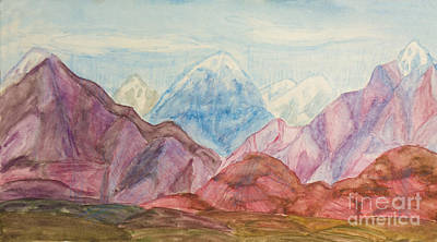 Painting - Coloured Hills, Painting by Irina Afonskaya