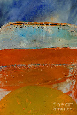 Photograph - Coloured Ice Creation Abstract by Nina Silver