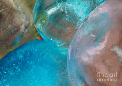 Photograph - Coloured Ice Creation Print 2 by Nina Silver