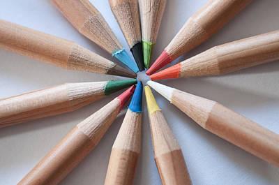 Coloured Pencils 2 Art Print