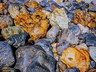Photograph - Coloured Rocks Of Trial Harbour #4 by Lexa Harpell