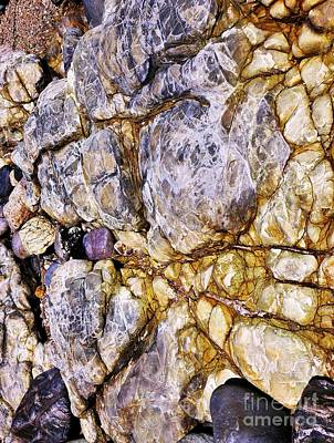 Photograph - Coloured Rocks Of Trial Harbour #1 by Lexa Harpell