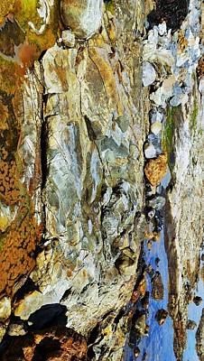 Photograph - Coloured Rocks Of Trial Harbour #7 by Lexa Harpell