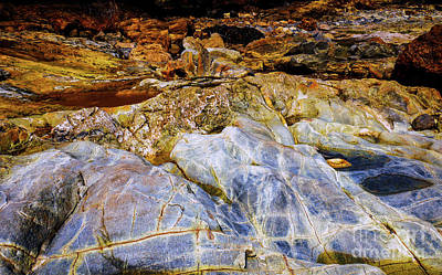 Photograph - Coloured Rocks Trial Harbour #3 by Lexa Harpell