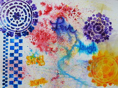 Mixed Media - Colourful Abstract by Betty-Anne McDonald