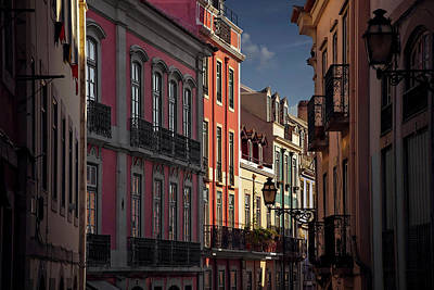 Charming Town Photograph - Colourful Architecture In Lisbon Portugal  by Carol Japp