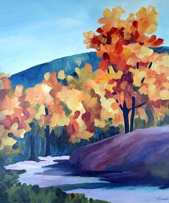 Painting - Colourful Autumn by Carola Ann-Margret Forsberg