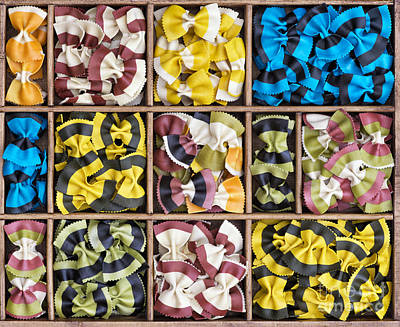 Grid Photograph - Colourful Bow Ties  by Tim Gainey