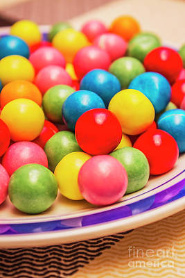 Confection Photograph - Colourful Bubblegum Candy Balls by Jorgo Photography - Wall Art Gallery