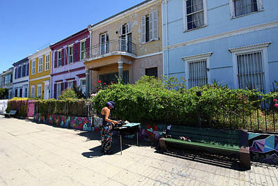 Photograph - Colourful Buildings In Valparaiso by Aidan Moran