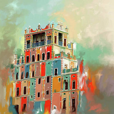 Painting - Colourful Buqshan Khaila Hotel 683 1 by Mawra Tahreem