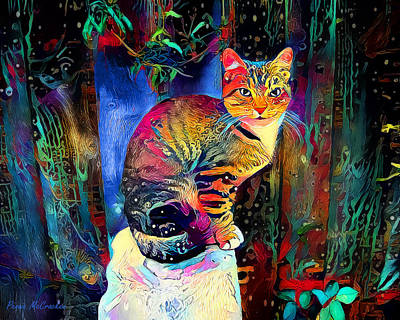 Digital Art - Colourful Calico by Pennie McCracken
