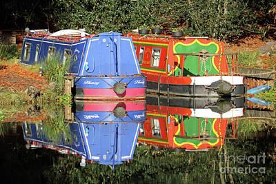 Photograph - Colourful Canal Boats by Julia Gavin