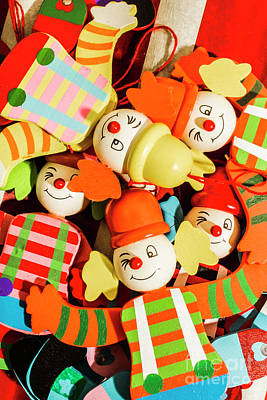 Photograph - Colourful Character Clowns by Jorgo Photography - Wall Art Gallery