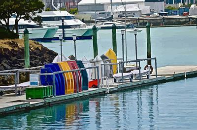 Colourful Dinghies Auckland Art Print