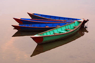 Photograph - Nepalese Fishing Boats  by Aidan Moran