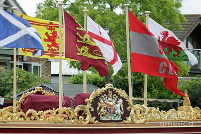 Photograph - Colourful Flags On Gloriana by Julia Gavin