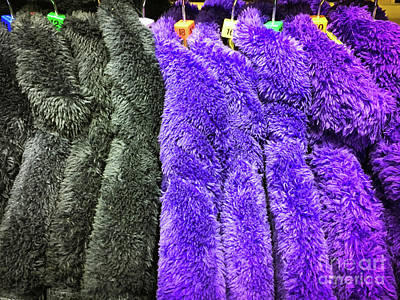 Zipper Photograph - Colourful Fleece Tops by Tom Gowanlock