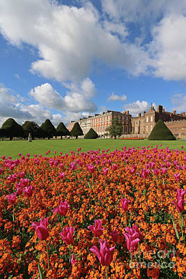 Photograph - Colourful Flowers At Hampton Court London  by Julia Gavin