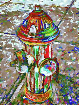 Colourful Hydrant Art Print