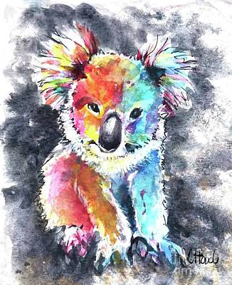 Painting - Colourful Koala by Chris Hobel