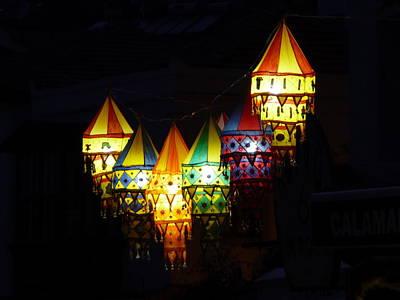 Pop Art - Colourful Lanterns by Richard Griffin