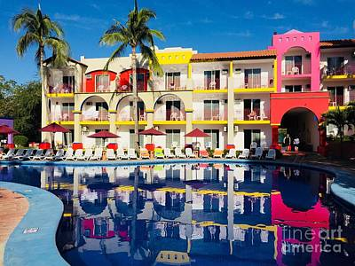 Photograph - Colourful Resort In Bucerias Mexico by Bill Thomson