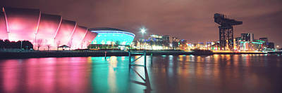 Abstract Male Faces - Colourful River Clyde by Ray Devlin