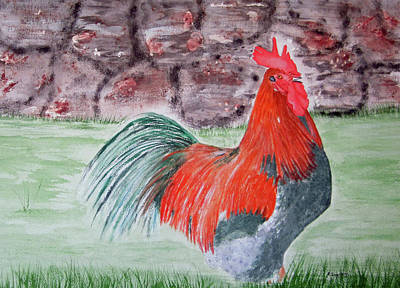 Painting - Mr Rooster by Elvira Ingram