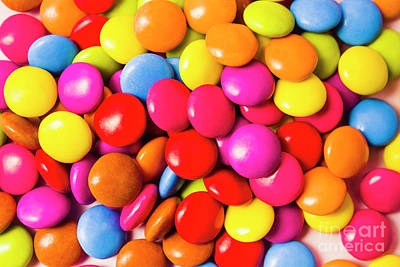 Food Stores Photograph - Colourful Round Candy Balls Closeup  by Jorgo Photography - Wall Art Gallery