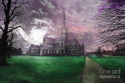 Photograph - Colourful Salisbury Cathedral by Terri Waters