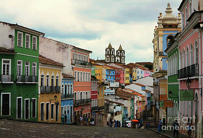 Photograph - Colourful Street In Sao Salvador by Vivian Christopher