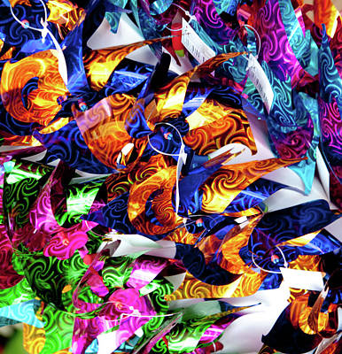 Photograph - Colourful Toy Windmills by Helen Northcott