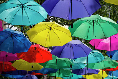 Photograph - Colourful Umbrella by Ross G Strachan