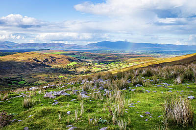 Art Print featuring the photograph Colourful Undulating Irish Landscape In Kerry  by Semmick Photo