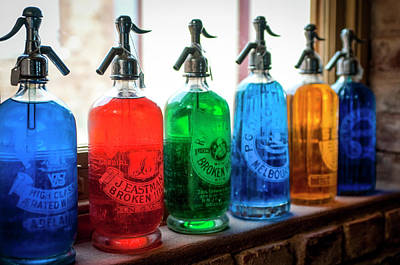 Photograph - Colourful Vintage Bottles by Lana Enderle