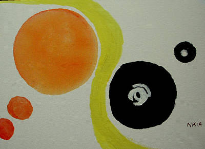 Painting - Colours And Their Weight by Naini Kumar