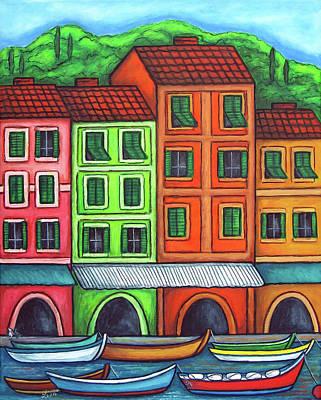 Colours Of Liguria Print by Lisa  Lorenz