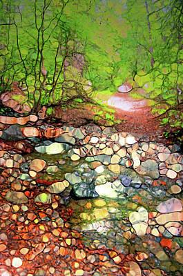 Digital Art - Colours Of The Creek by Tara Turner