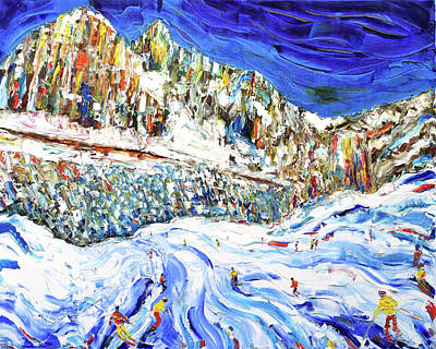 Gardena Painting - Colours Of The Dolomites by Pete Caswell