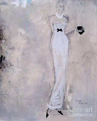 Evening Dress Mixed Media - Colours Of The Night - 1 by Andrea Stajan-Ferkul