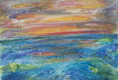 Painting - Colours Of The Sea 10 by Wendy Le Ber