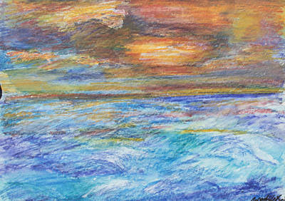Painting - Colours Of The Sea 11 by Wendy Le Ber
