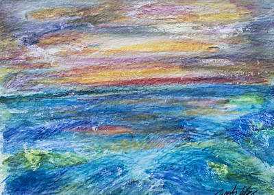 Painting - Colours Of The Sea 7 by Wendy Le Ber