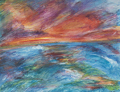 Painting - Colours Of The Sea 8 by Wendy Le Ber