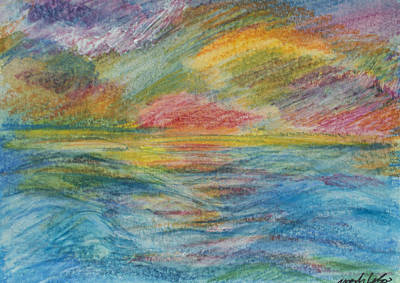 Painting - Colours Of The Sea 9 by Wendy Le Ber