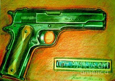 Drawing - Colt 1911 by Ricardo Reis