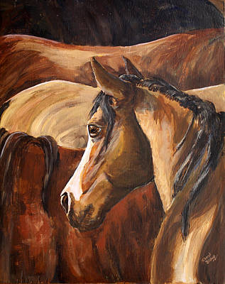 Wall Art - Painting - Colt In The Burmuda by Cheryl Bishop
